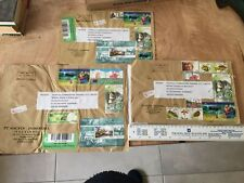 Indonesia - Guernsey - Three Heavily Stamped Envelopes