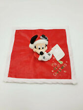 13 - DOUDOU ROUGE PLAT MICKEY MY FIRST CHRISTMAS FLOCON DISNEY STORE NEUF
