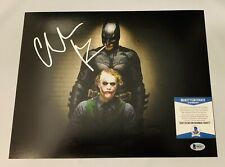 CHRISTIAN BALE SIGNED 11x14 PHOTO BATMAN THE DARK KNIGHT HEATH LEDGER AUTO+COA!