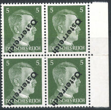A07342 -- Austria #390** block with inverted overprint