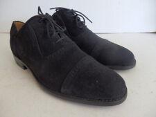Charles Tyrwitt black suede brogues shoes UK 8