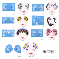 7pc Reusable Face Paint & Airbrush Tattoo Stencils Body Face Makeup Template