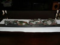 "HO Collectible ""Armored"" Military Train set, Steam Locomotive, Tender, & 2 Cars"