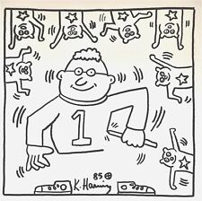 KEITH HARING ORIGINAL HAND-DRAWN AND SIGNED INK ON PAPER 1985