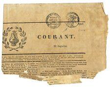 NEDERLAND 1843 FISKAAL STEMPELS OP DEEL VAN =VLISSINGSCHE KRANT = FRAAI