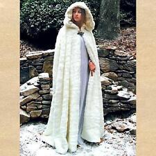 Renaissance Snow Queen Faux Fur Hooded Cape