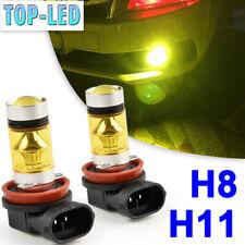 H11 H8 H9 3000K Yellow LED Fog Driving Light Bulbs Headlight Kit High Power 100W