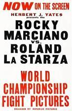 Rocky Marciano vs Roland La Starza - Canvas Print Movie Poster.