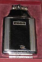 Vintage Ronson Master Cigarette Case Lighter Black Engraved Monogram J C D Mint