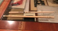 LOT OF 2 DAVE MATTHEWS BAND - CARTER BEAUFORD - STAGE-USED TOUR DRUMSTICK - RARE