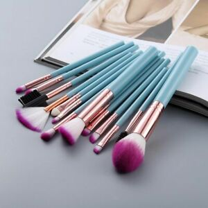 15pcs Makeup Brushes Highlighter Soft Hair Foundation Powder Eye Shadow Cosmetic