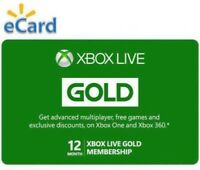 Xbox Live Gold 12 Months Subscription Digital Code (Xbox One / Xbox 360)