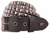 Lowlife Triple S Studded Leather Belt in Black and Snakeskin