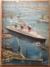 L'Illustration 1935 Numéro spécial Paquebot Normandie Art déco Lefébure Brenet