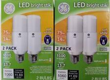 4 GE 32295 LED Bright Stik 14W 75W Watt Replacement 1060 Lumens light bulbs