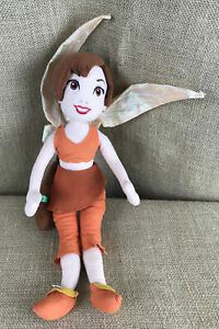 """Disney Store Fairies Fawn Tinker Bell Legend of the Neverbeast 14"""" Plush Doll"""