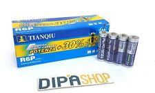 Set 40 Pile Batterie TIANQIU R06P AA Stilo 1.5V 4S Zinco Carbone moc