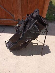 Nike Golf Bag SlingShot Izzo Dual Strap Carry Stand Golf Bag Black 5 Way