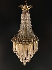 Dollhouse Miniature Handcrafted Crystal Chandelier 1:12 12V