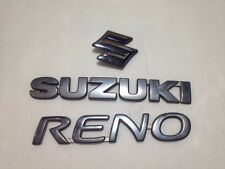 05-08 SUZUKI RENO EMBLEM REAR TRUNK NAMEPLATE SILVER CHROME GENUINE P# J200