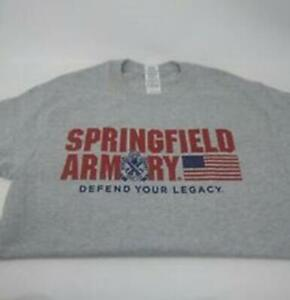 Springfield Armory T-Shirt Any Size S-2XL Heather Gray Gildan Defend Your Legacy