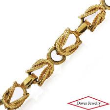 Estate 14K Gold Unique Wheat Chain Bracelet 11.2 Grams NR
