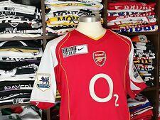 ARSENAL home 2004-05 shirt - HENRY #14-Juventus-Monaco-France-Maillot-Jersey (L)
