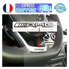 AMG logo 35x4mm pour VOLANT Mercedes emblem aufkleber badge sigle sticker