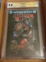 Harley Quinn #1 CGC SS 9.8 Warren Louw Exclusive Variant 4 Signatures