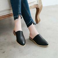 Fashion Slipper Shoes womens pointed toe low-heels mules sandals slingbacks shoe