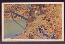 GRAND CANYON NATIONAL PARK 1950 Kaibab Suspension Bridge Colorado River postcard
