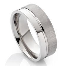 Verlobungsring Ehering Herrenring oder Damenring aus Titan mit Ring Gravur HT001