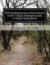 200 Multiplication Worksheets with 5-Digit Multiplicands, 4-Digit Multipliers: M