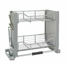 Rev-A-Shelf 5PD-24CRN 24 inch Chrome Convenient Wall Cabinet Organizer - Silver