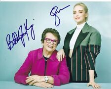 Billie Jean King & Emma Stone Autographed 8x10 Battle of the Sexes Photograph