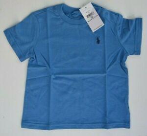 RALPH LAUREN blue logo Tshirt top Polo T-shirt childrens boys 3 - 24 MONTHS