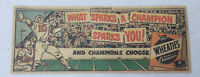 small 1951 Wheaties ad ~ FOOTBALL What Sparks A Champion