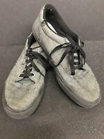 Gray VANS Off the Wall Skater Shoes Men's Size 8.5 Gray & Black Skateboard Shoe