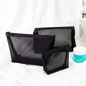 Women Toiletry Organizer Cosmetic Bags Mesh Bag Multifunction Makeup Case New