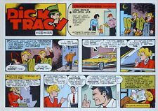 Dick Tracy by Locher & Collins - lot of 52 Sunday comic pages - Complete 1987