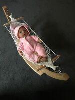 Swinging Reborn Baby Born Doll Beanie Kid Bear Toy Hammock Bed Christmas Gift