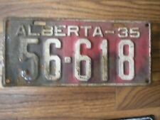 1935 ALBERTA Canada Vintage 81 Year Old Licence Plate 56-618