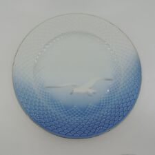 """SEAGULL by Bing & Grondahl Blue White Gold Trim Scales Dinner Plate 10 1/8"""""""