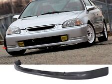 For 96-98 Honda Civic 2DR EK9 CTR Front lip PP + JDM THIN DOOR MOLDING CARBON L