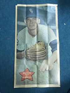 """1968 Topps GARY PETERS 10x18"""" Poster #13 Chicago WhiteSox"""