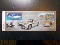 GB 2020 Commemorative Stamps~James Bond~M/S~Fine Used Set~on piece~ UK Seller