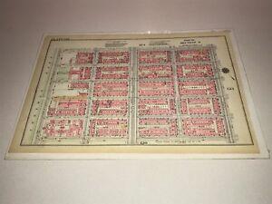 G.W. Bromley Map Plate 121 122 12 X 17 Mt Sinai Hospital Manhattan 1916
