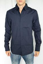 jolie chemise marine M+F GIRBAUD plaquet  taille XXL NEUF/ÉTIQUETTE valeur 160€