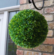 Best Artificial 30cm Lush Long Leaf Boxwood Buxus Topiary Grass Hanging Ball New