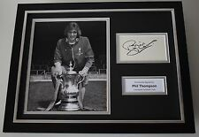 Phil Thompson SIGNED FRAMED Photo Autograph 16x12 display Liverpool AFTAL COA